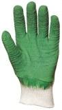 Lot de 12 Paires Gant Latex crêpé vert