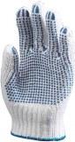 Lot de 10 Paires Gant Polyester/ Coton Trico Picots 1 Face