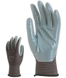 Lot de 10 Paires Gant Polyamide Gris Enduction Nitrile