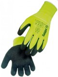 Gants Polyamide Jaune enduction latex gris